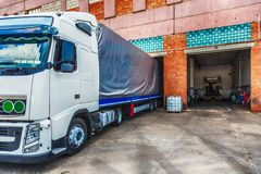 Truck or lorry repair shop service Royalty Free Stock Image