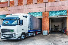 Truck or lorry repair shop service Royalty Free Stock Photography