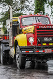 Truck mack in Central America Costa Rica. Rainy weather in Central America Royalty Free Stock Image