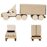 Truck made of corrugated cardboard Royalty Free Stock Photography