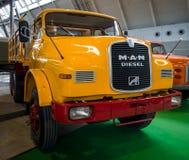 Truck MAN 19.230 DHAK 6x6 Allroad, 1970. STUTTGART, GERMANY - MARCH 03, 2017: Truck MAN 19.230 DHAK 6x6 Allroad, 1970. Europe`s greatest classic car exhibition stock photo