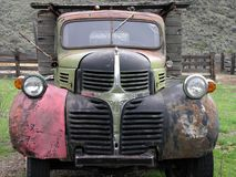 Truck of Many Colors. Old rusty, many colored Dodge truck royalty free stock images