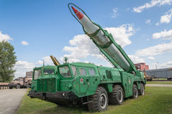 Truck MAZ-543 (9P117) Launcher with 8K14 rocket of 9K72 missile complex Elbrus (Scud B) Stock Photography
