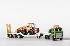 Truck with mechanical shovel Royalty Free Stock Photo