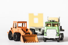 Truck and mechanical shovel Stock Photography