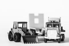 Truck and mechanical shovel Stock Photo