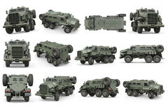 Truck military army transport set Royalty Free Stock Photo
