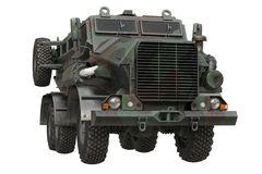 Truck military camouflaged car Royalty Free Stock Photography