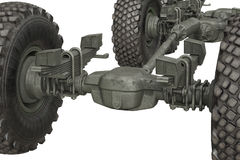 Truck military frame chassis, close view Stock Photography