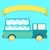 Truck with milk Royalty Free Stock Images