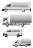 Truck minibus large car Royalty Free Stock Images