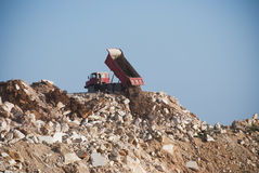 Truck and Mining dump royalty free stock photo