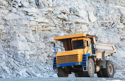 Truck of mining in open cast. Minerals industry Stock Photos