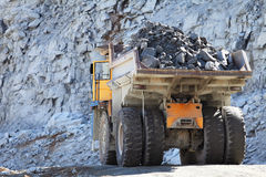 Truck of mining in open cast Royalty Free Stock Photo