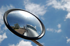 Truck in Mirror royalty free stock photos