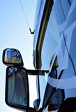 Truck mirrors. Mirrors combined to observe around the vehicle royalty free stock photography