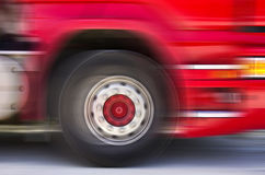 Truck in motion Royalty Free Stock Photos