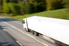 Truck in motion Stock Photography