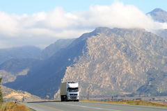 Truck - Mountains - South Africa Stock Images