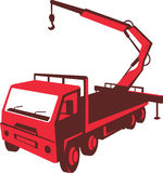 Truck Mounted Crane Cartage Hoist Retro Stock Photography