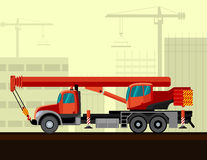 Truck mounted telescopic boom Royalty Free Stock Photo