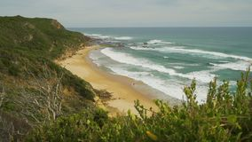 Truck move of the view on the Great Ocean Road in Australia in the summer stock footage