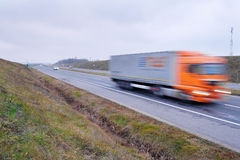 Truck in movement Royalty Free Stock Photo