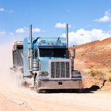 Truck on a desert Stock Photo