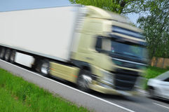 Truck moving Royalty Free Stock Image