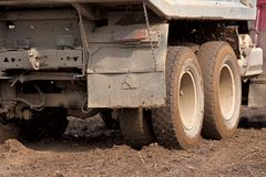 The truck in the mud Royalty Free Stock Photography