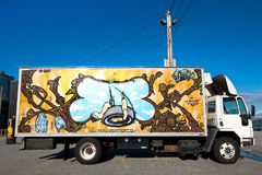 Truck with Mural Stock Image