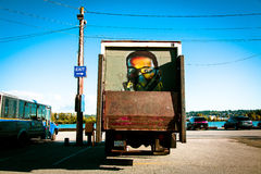Truck with Mural Royalty Free Stock Photos