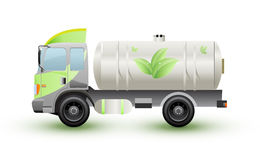 The truck natural gas or eco ennergy Royalty Free Stock Photo