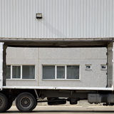 Truck near warehouse Royalty Free Stock Images