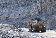 Truck Of Mining In Open Cast Stock Photo