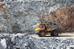 Truck Of Mining In Open Cast Royalty Free Stock Photography