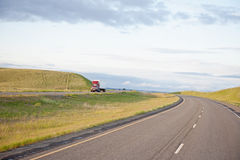 Truck On Open Highway Stock Photography