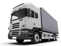 Truck On White Background Stock Photos