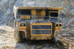 Truck in open pit mine Royalty Free Stock Images