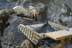 Truck in open pit mine Stock Photos