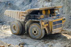 Truck in open pit mine Royalty Free Stock Photography