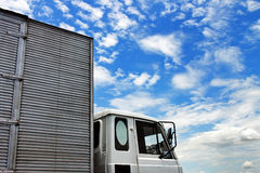 Truck Over Cloudy Blue Sky Stock Photography