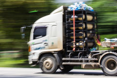 Truck Panning camera Royalty Free Stock Images
