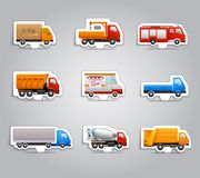 Truck paper stickers Royalty Free Stock Image