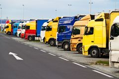 Truck Parking on Stock Photography