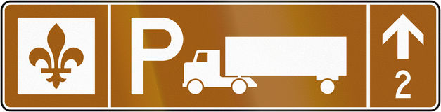 Truck Parking Ahead in Canada Stock Photography
