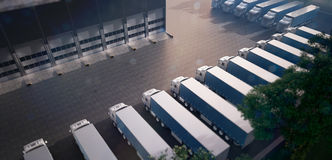Truck parking. Freight Royalty Free Stock Photography