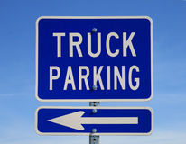 Truck parking sign Stock Photo