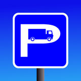 Truck parking sign Stock Images