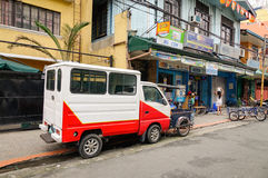 A truck parking on street at Baclaran in Manila, Philippines Stock Photo